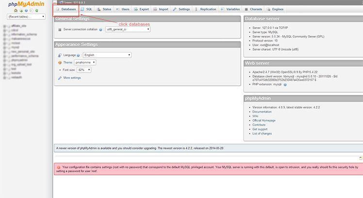 phpMyAdmin-make-database